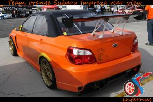Subaru Impreza Orange rear by janmarkelj