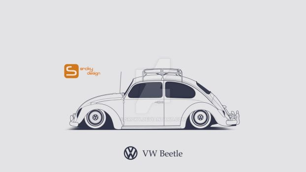 VW Beetle LineArt by SrCky