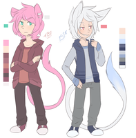 mew boys by RabbitBatThing