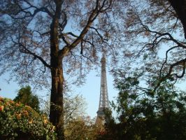 Eiffel Tour with Trees by PowerfulStardust
