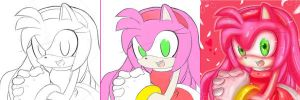 :Amy rose step for step: by missyuna