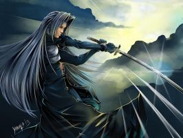 Sephiroth Commission by ShoBoi