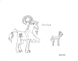 MLP: FiM Where The World Ends Ibex Design by QuirkyWallace