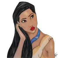 Pocahontas by untroubledheart