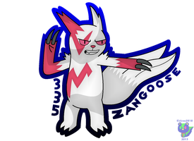 Zangoose by Qarcyn