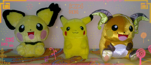 Pika Plushies :D by RocketLaramie