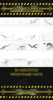 Wireframe c4d pack 1 by Exodus by Beastbomb