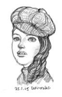 Sketch of gal's head by southercomfort