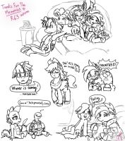 MLP: Tanks For The Memories R63 version (sketches) by KikiRDCZ