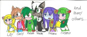My fav Sonic Fan Charas by cmara