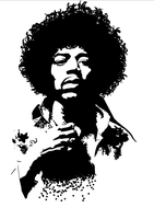 Jimi Hendrix vectorized by Reinout--D