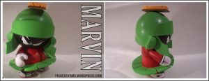Marvin the Martian munny by F1shcustoms