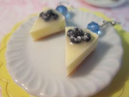 Blueberry cheesecake earrings by CandyChick