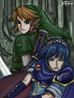 Link and Marth by Hwoangtao