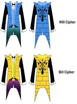 Cipher Twins' coat Design #1 by KingGigabyte