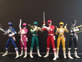 Zyuranger aka Mighty Morphin Power Rangers by eternalview