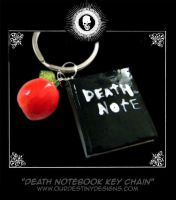 Death Notebook Key Chain by OurDestinyDesigns