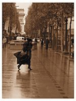 Rainy Champs Elysees by Yousry-Aref