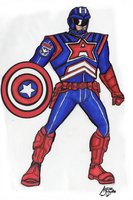 Captain America Costume Redesign by drwcomics