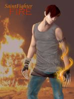 SAINT FIGHTER FIRE by RomanticFae