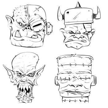W20170507 - ork heads by StMan