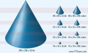 Cone Icon by science-icons
