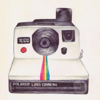 Ballpoint Polaroid II by onecuriouschip