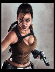 Angelina Jolie, Lara Croft by louissollune