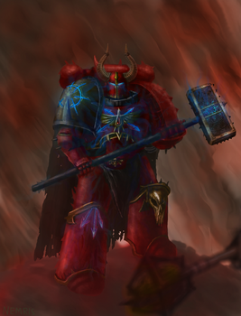 Gabriel Angelos of the Blood Ravens warband by Nemris