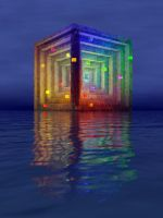 Floating Cube 712 by Jollard
