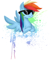 My Little Pony Rainbow Dash shirt design by kaizerin