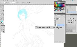 MIKU SCREENSHOT! Still in progress by AfflictionArt