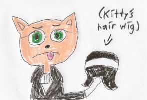 What if Kitty Katswell had to wear a hair wig? by dth1971