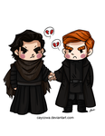 Star Wars - Kylo and Hux by caycowa