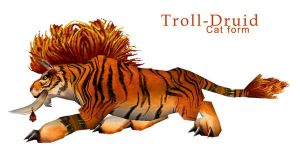 Troll-Druid Cat form by mythori