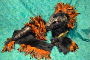 RF Art show - Feathered Raptor partial pieces by temperance