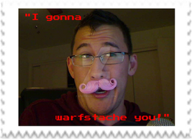Markiplier - Warfstache Stamp by SteffieNeko
