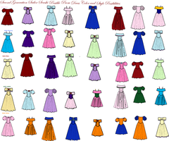 Possible Senshi Prom Dresses by HoshimyaIchigo