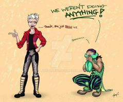We Weren't Doing ANYTHING by ArtbyMaryC
