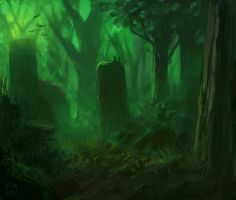 Moody Forest -Speedpainting by Aerozopher