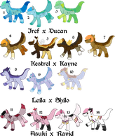 Pair My Breedables Litters 10 - Open by KittehzAdopts