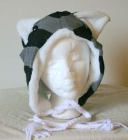 Black and Gray Striped Cat Hat by Tzigana