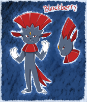 Blackberry the Weavile by PlatinaSena