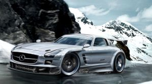 Mercedes SLS Winter Touge by Jay5204