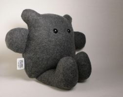 Chummy the Charcoal Gray Bear Plushie by Saint-Angel