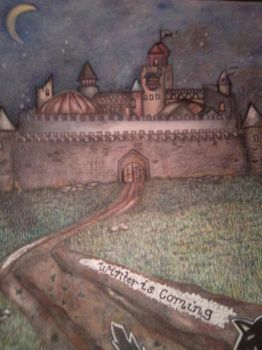 Winterfell with colored pencil by Saistar87