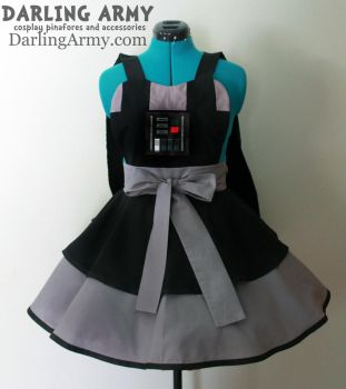 Darth Vader Cosplay Pinafore With Attached Cape by DarlingArmy