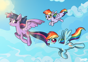 Commission-Family Flight by LostInTheTrees