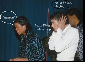 mj doesnt like jb :P by maxsilla