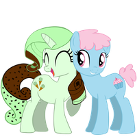 Request #100 ~ Minty Chip + Cherry Cupcake ~ by Radiant--Eclipse
